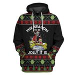 Gearhuman 3D Star Wars Yoda And Mandalorian Christmas Ugly Sweater Tshirt Hoodie Apparel