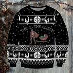 This is the Sleigh 3D Printed Sweatshirt SW0410L2