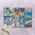 Winter Skiing Day CLT130647 Bath Mat