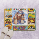 DS Hippie QH070801 Bath Mat