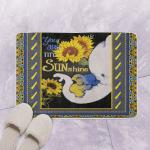 Elephant Mom Sunflower You Are My Sunshine CLA0810164Q Bath Mat