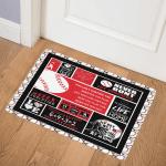 Baseball BBB231001NB Door Mat