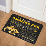 Birthday Gift FOOTBALL Son Mom Behind Every Football Player DHC09111541TD  Door Mat