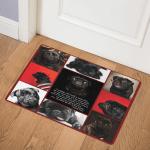 Black Pug CL22100079MDQ Door Mat