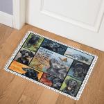 Black Labrador CL08110063MDQ Door Mat