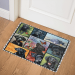 Black Labrador Lovely Black CLA31100381Q Door Mat