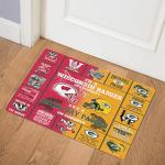 Blanket Wisconsin Badgers & Green Bay Packers DHC0111269 Door Mat