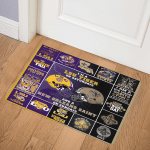 LSU Tigers And New Orleans Saints Football DHC0111266  Door Mat