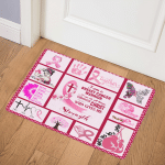 Breast Cancer Warrior ABC24105207 Door Mat