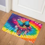 Butterfly Dreamcatcher Tie Dye CL07110034MDQ Door Mat