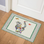 Cat Lovely Flower Cat ABC07113284 Door Mat