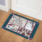 Christmas Snowman CLA1110158Q Door Mat