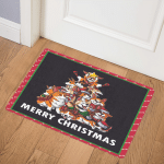 Corgi christmas tree DHC201142VT Door Mat