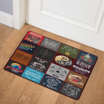Dungeons and Dragons Collage TH1807 2 Door Mat