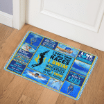 Eat Sleep Swim Repeat Swimming ABC07111189 Door Mat