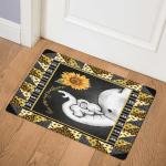 Elephant Sunflower You Are My Sunshine CLA0810165Q Door Mat