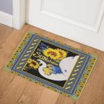 Elephant Mom Sunflower You Are My Sunshine CLA0810164Q Door Mat