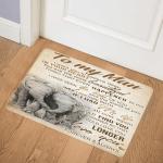 Elephant To My Man CL18110814MDQ Door Mat