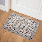 Flower Garden With Butterfly And Dragonfly CLA0710403Q Door Mat