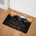 Football To My Son I Love You DHC09111961TD Door Mat
