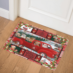 Golden Retriever Christmas CL15100192MDQ Door Mat