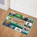 Hiking Not All Who Wander Are Lost ABC24104435 Door Mat