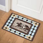Horses CLA0511543Q Door Mat