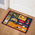 HR101Harry Potter Cute Chibi QuiltRon and Hermione DHC23119373TD Door Mat