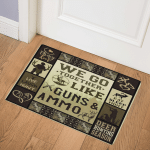 Hunting We Go Together Like Guns Ammo GS CL LD2511 Door Mat