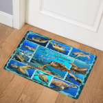 I Go To The Ocean And Lose My Mind And Find My Soul Sea Turtle GS-CNA0909 Door Mat