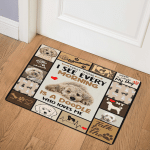 I See Everything Morning Is A Doodle Who Loves Me Labradoodle Dog GS CL LD0611 Door Mat