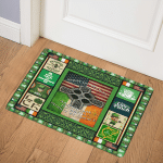 Irish By Blood American By Birth Patriot By Choice GS CL LD2210 Door Mat