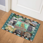 Joyful Labradoodle CL10100168MDQ Door Mat