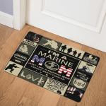 Marine Mom Soldier ABC07113084 Door Mat