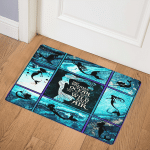 Mermaid She dreams of the ocean 1906  Door Mat