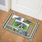 Miniature Schnauzer PUC051185 Door Mat