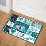 Ovarian Cancer Warrior ABC24107084 Door Mat