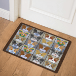 Papillon Dog TD20110141 Door Mat