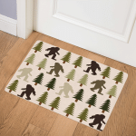 Pine Tree And Big Foot CLA1910384Q Door Mat