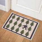 Pine Tree And Big Foot CLA1910383Q Door Mat