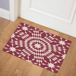 Red And White Star CLM1910113Q Door Mat