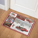 Red Truck Chrismas CL15100306MDQ Door Mat
