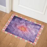 Purple Flower CLM1410072 Door Mat