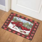 Red Truck Christmas CL15100314MDQ Door Mat