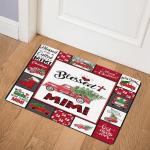 Red Truck Christmas Mimi ABC07112560 2 Door Mat