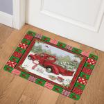 Red Truck Christmas ABC07111378 Door Mat