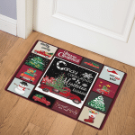 Red Truck Christmas ABC22105229 Door Mat