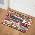 Red Truck Christmas ABC24104447 Door Mat