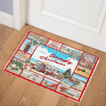 Sandy And Bright Christmas At The Beach ABC07111079 Door Mat