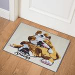 Snoozy Bulldogs CLA0511798Q Door Mat